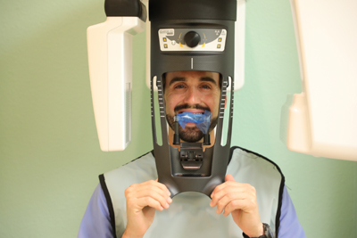Patient in CBCT Machine